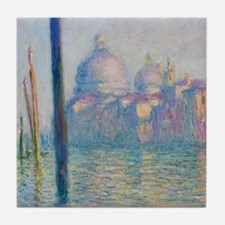 Grand Canal Venice by Monet Tile Coaster