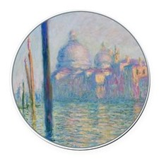 Grand Canal Venice by Monet Round Car Magnet