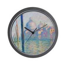 Grand Canal Venice by Monet Wall Clock