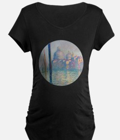 Grand Canal Venice by Monet Maternity T-Shirt