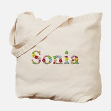 Sonia Bright Flowers Tote Bag