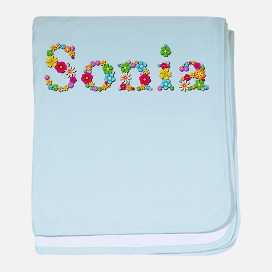 Sonia Bright Flowers baby blanket