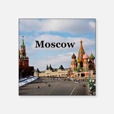 "Moscow_6x6_v2_RedSquare Square Sticker 3"" x 3"""