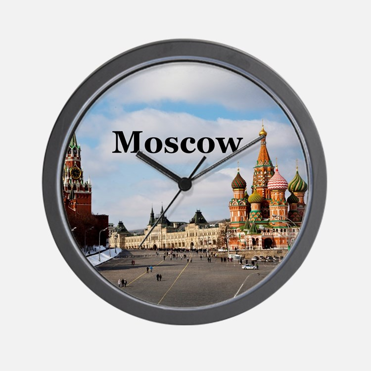 Moscow_6x6_v2_RedSquare Wall Clock