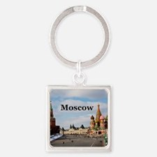 Moscow_6x6_v2_RedSquare Square Keychain