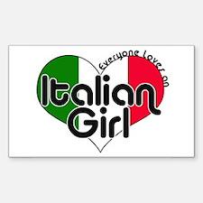Everyone Loves an Italian Girl Sticker (Rectangula