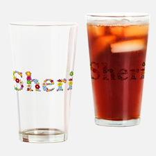 Sheri Bright Flowers Drinking Glass