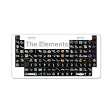The Periodic Table of Eleme Aluminum License Plate