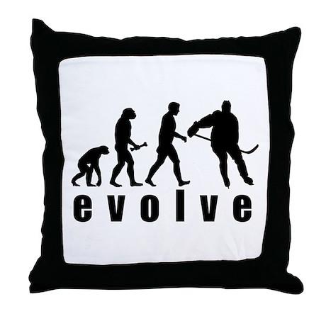 Evolve Hockey Throw Pillow
