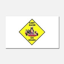 Kart Racer On Board Car Magnet 20 x 12