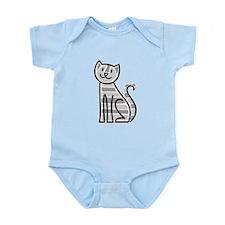 Gold Tabby Cat Infant Bodysuit