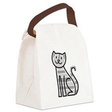 Gold Tabby Cat Canvas Lunch Bag