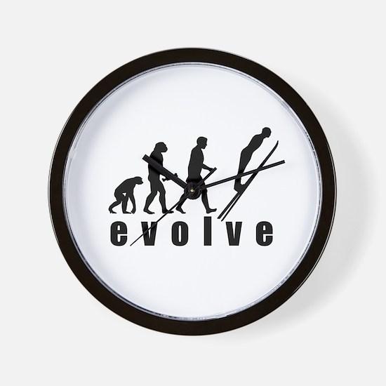 Evolve Skiing Jump Wall Clock