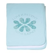 Love is Patient Hearts baby blanket