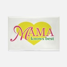 Mama Knows Best Heart Rectangle Magnet