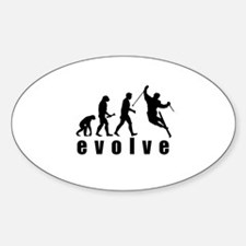 Evolve Skiing Oval Decal
