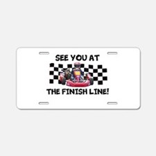 Finish Line Aluminum License Plate