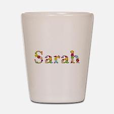 Sarah Bright Flowers Shot Glass