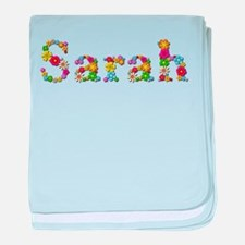 Sarah Bright Flowers baby blanket