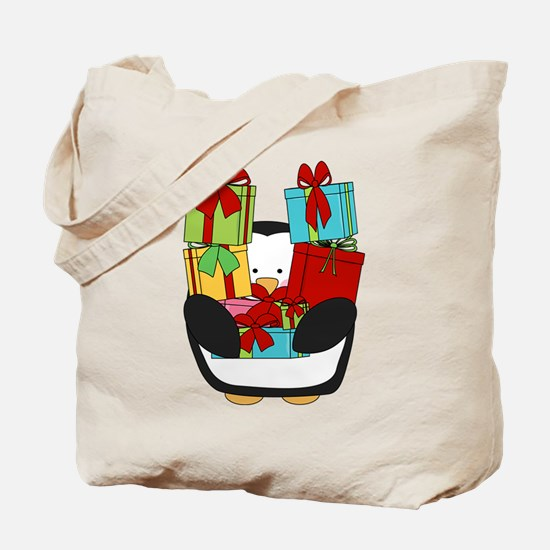 PENNQUIN WITH GIFTS Tote Bag