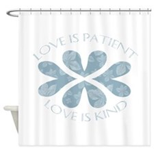 Love is Patient Hearts Shower Curtain