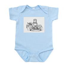 Kart Racer Pencil Sketch Body Suit