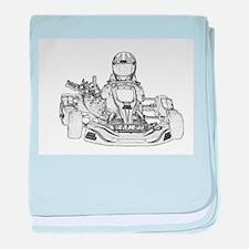 Kart Racer Pencil Sketch baby blanket