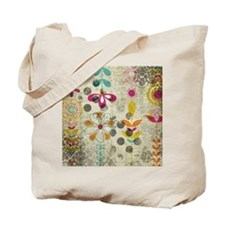 Bohemian Boho Flowers Tote Bag