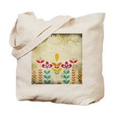 Bohemian Boho Floral Tote Bag