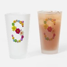 S Bright Flowers Drinking Glass