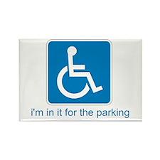 Handicapped for Parking Rectangle Magnet