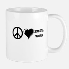 Peace,Love,Social Work Mug