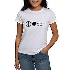 Peace,Love,Social Work Tee