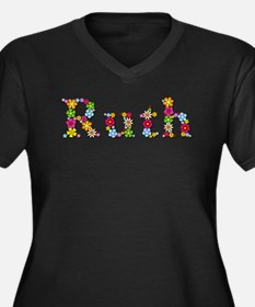 Ruth Bright Flowers Plus Size T-Shirt