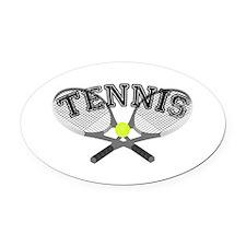 Tennis Oval Car Magnet