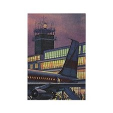 Vintage Airport Rectangle Magnet