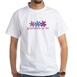 3 flower-grandma to be White T-Shirt