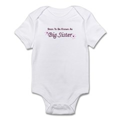 Soon To Be Big Sister Infant Bodysuit