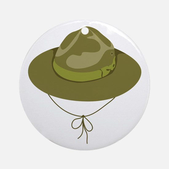 Scout Hat Ornament (Round)