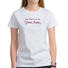 Soon To Be Great Aunt Women's T-Shirt
