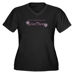 Soon To Be Great Aunt Women's Plus Size V-Neck Dar