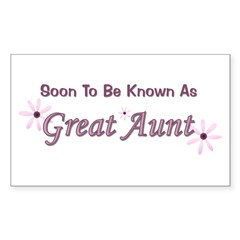 Soon To Be Great Aunt Rectangle Decal