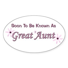 Soon To Be Great Aunt Oval Decal