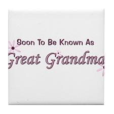 Soon To Be Great Grandma Tile Coaster
