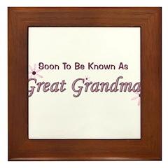 Soon To Be Great Grandma Framed Tile