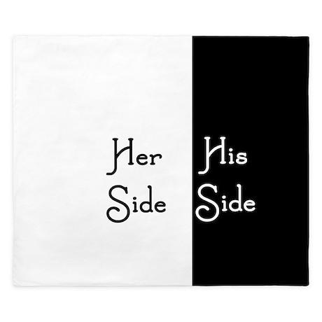 Her Side/His Side King Duvet