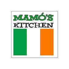 "Mamos Kitchen Irish Apron Square Sticker 3"" x 3"""