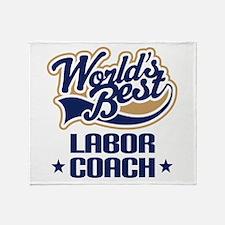 Labor Coach (Worlds Best) Throw Blanket