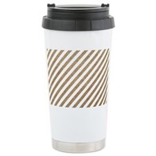 Gold/White Glitter Diag Travel Coffee Mug