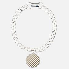 Gold/White Glitter Diago Bracelet